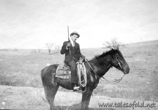 John Vance Alexander on a Horse in Dickens County, Texas