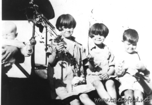 Mary, Esther, and Frank Williams as Children
