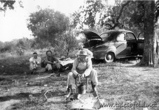 Llano River, Texas Picnic, June 24, 1952