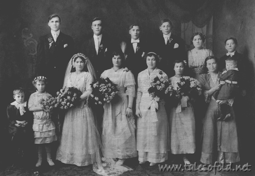 Stanley Wnuk and Verna Hajec Wedding, November 22, 1914